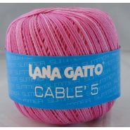 Butika.hu hobby webáruház - Lana Gatto - Cable5 kötő/horgoló fonal, egyiptomi pamut, 50g, 7853 - színátmenetes