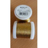 Butika.hu hobby webáruház - Metallic Madeira fémszálas hímzőcérna, No.12, 40m - Gold 38