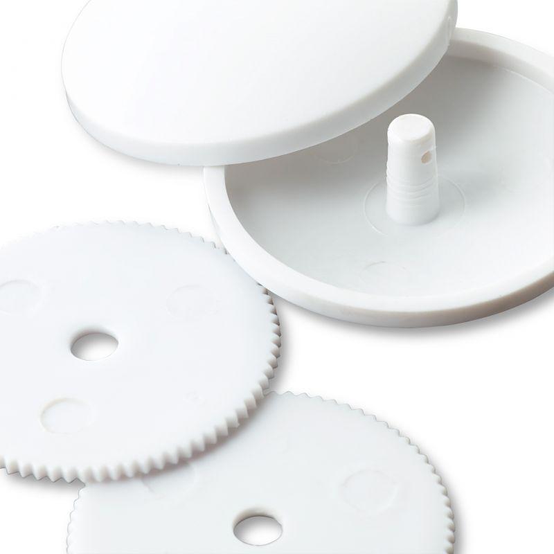 Butika.hu hobby webáruház - PRYM behúzható gomb műanyag, fehér, 11mm, 6db, 323234