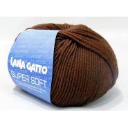 Butika.hu hobby webáruház - Lana Gatto Super Soft kötőfonal, extrafinom merinó gyapjú - 10040, barna