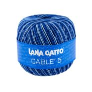 Butika.hu hobby webáruház - Lana Gatto - Cable5 kötő/horgoló fonal, egyiptomi pamut, 50g, 7334 - színátmenetes