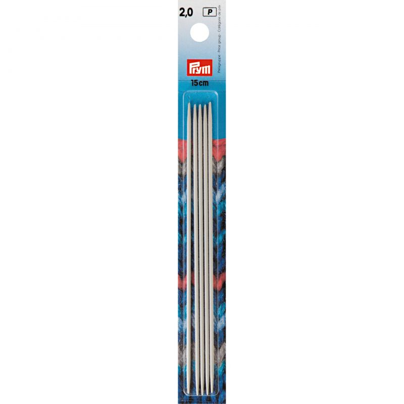 Butika.hu hobby webáruház - PRYM egyenes, fém, zokni/harisnya kötőtű 2mm/15cm, 191361