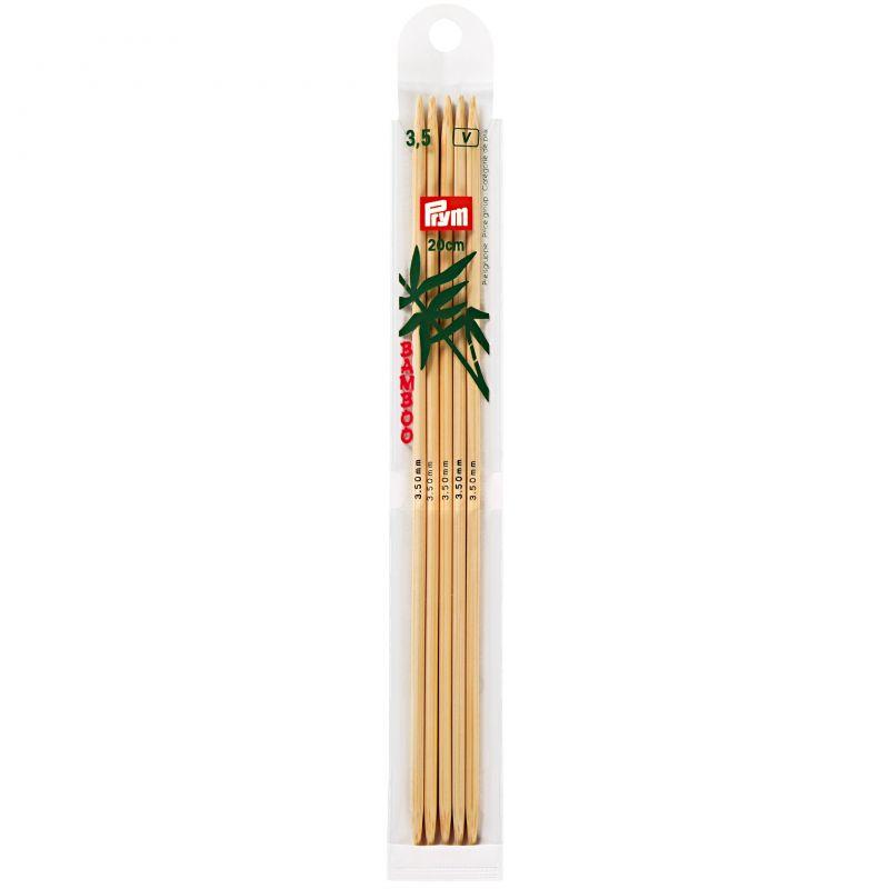 Butika.hu hobby webáruház - Egyenes, bambusz, zokni/harisnya kötőtű Prym - 3.5mm/20cm, 221213