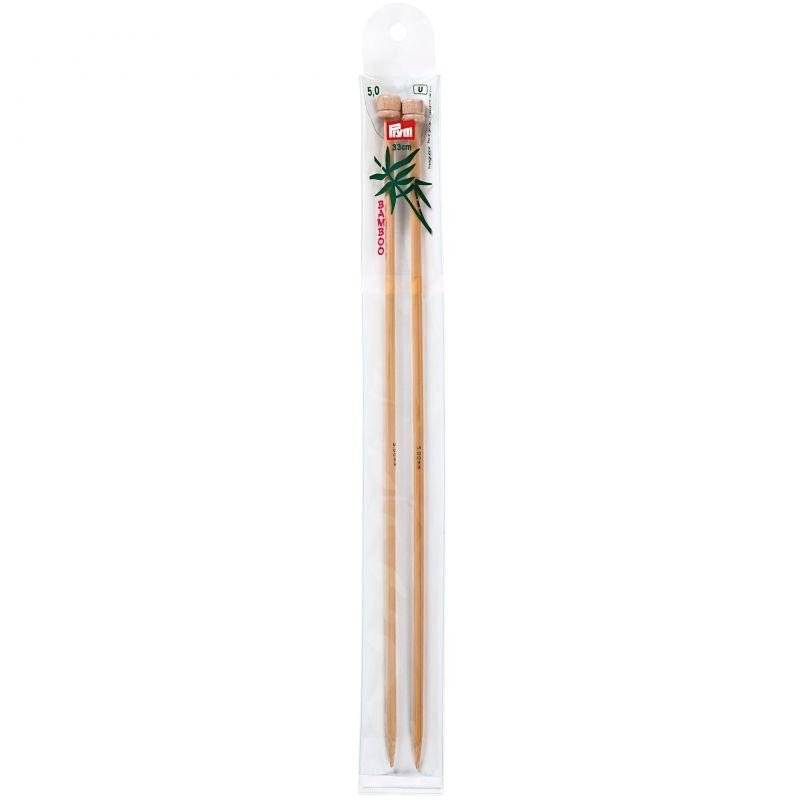 Butika.hu hobby webáruház - Prym Bamboo egyenes kötőtű bambuszból 5mm/33cm, 221117