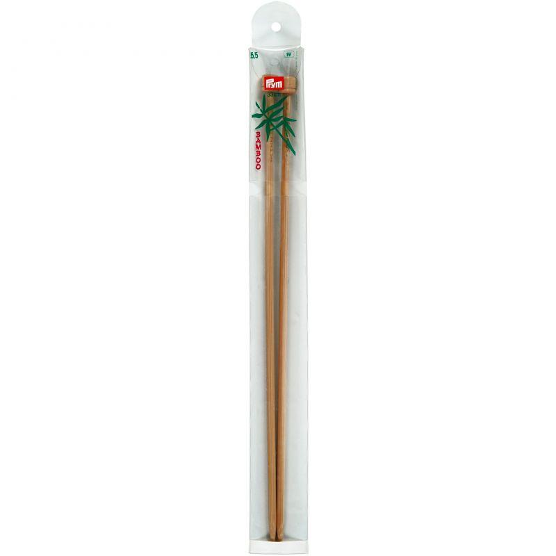 Butika.hu hobby webáruház - Prym Bamboo egyenes kötőtű bambuszból 5.5mm/33cm, 221118
