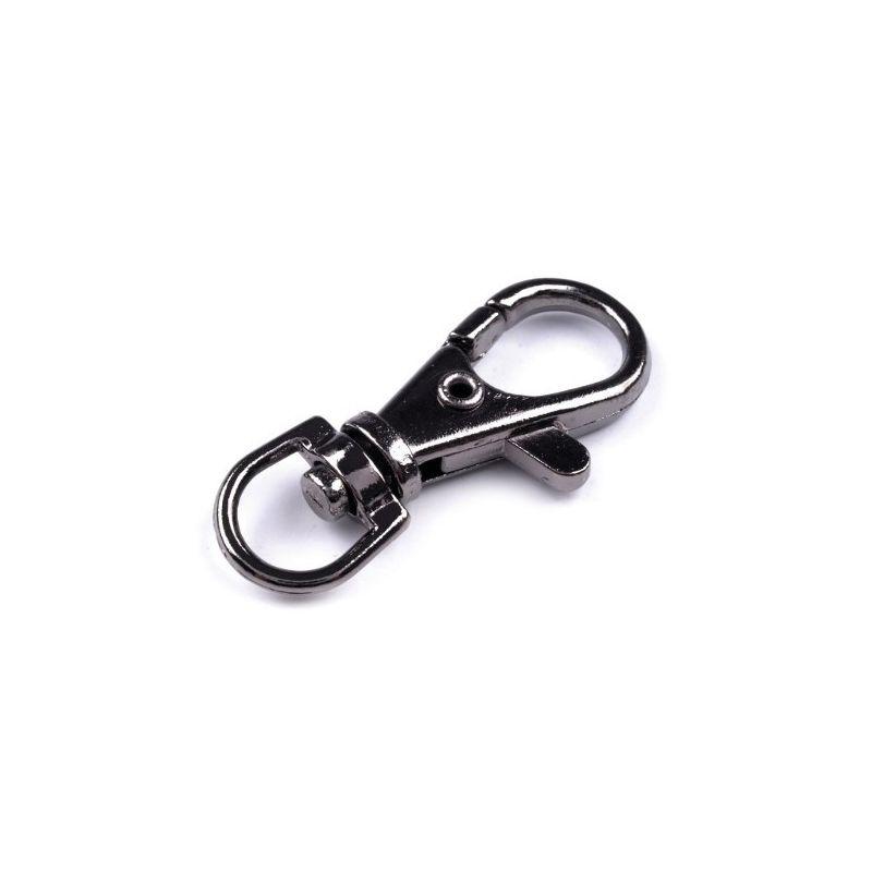 Butika.hu hobby webáruház - Fém karabiner / delfinkapocs szett, 10mm, 5db, 090572 - fekete