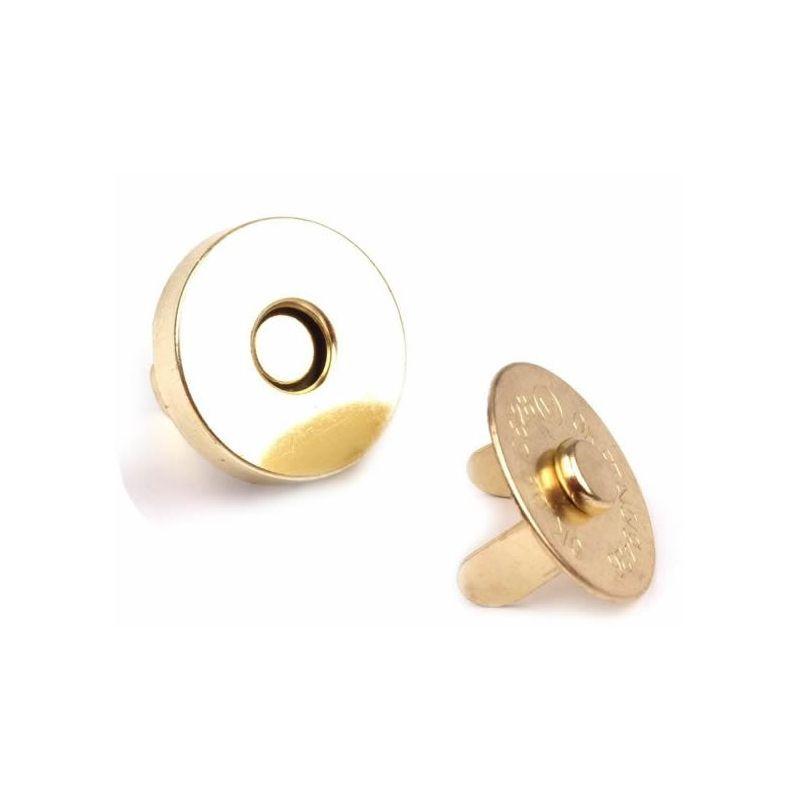 Butika.hu hobby webáruház - Táska mágneszár, 18mm, 5db, 060924 - arany