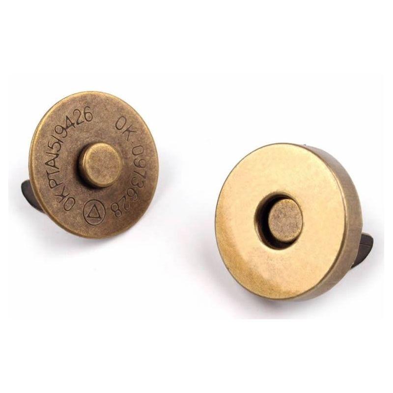 Butika.hu hobby webáruház - Táska mágneszár, 18mm, 5db, 060804 - antik