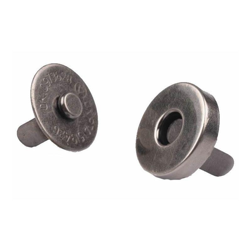 Butika.hu hobby webáruház - Táska mágneszár, 14mm, 5db, 060810 - fekete nikkel