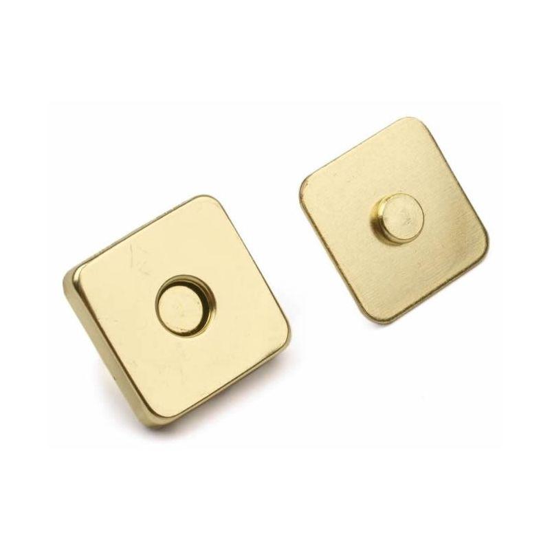 Butika.hu hobby webáruház - Táska mágneszár, négyzet, 5db, 18x18mm, 730017 - arany
