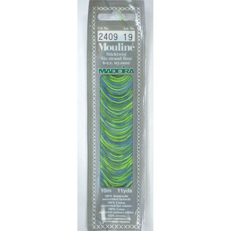 Butika.hu hobby webáruház - Madeira Mouliné pamut osztott hímzőcérna - 2409 - Green Moss