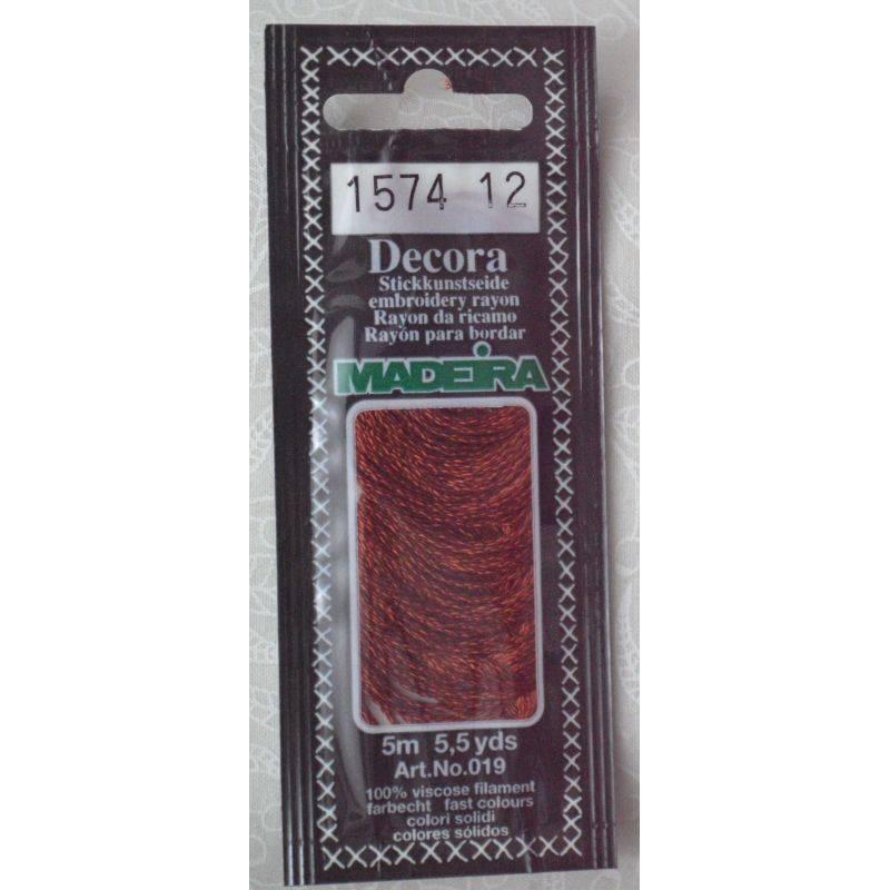 Butika.hu hobby webáruház - Madeira Decora osztott hímzőfonal - 1574 - Auburn