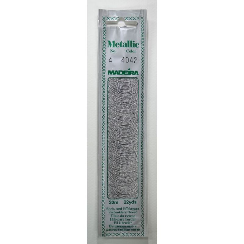 Butika.hu hobby webáruház - Madeira Metallic Mouline fémszálas hímzőfonal - No.4, 20m, 4042