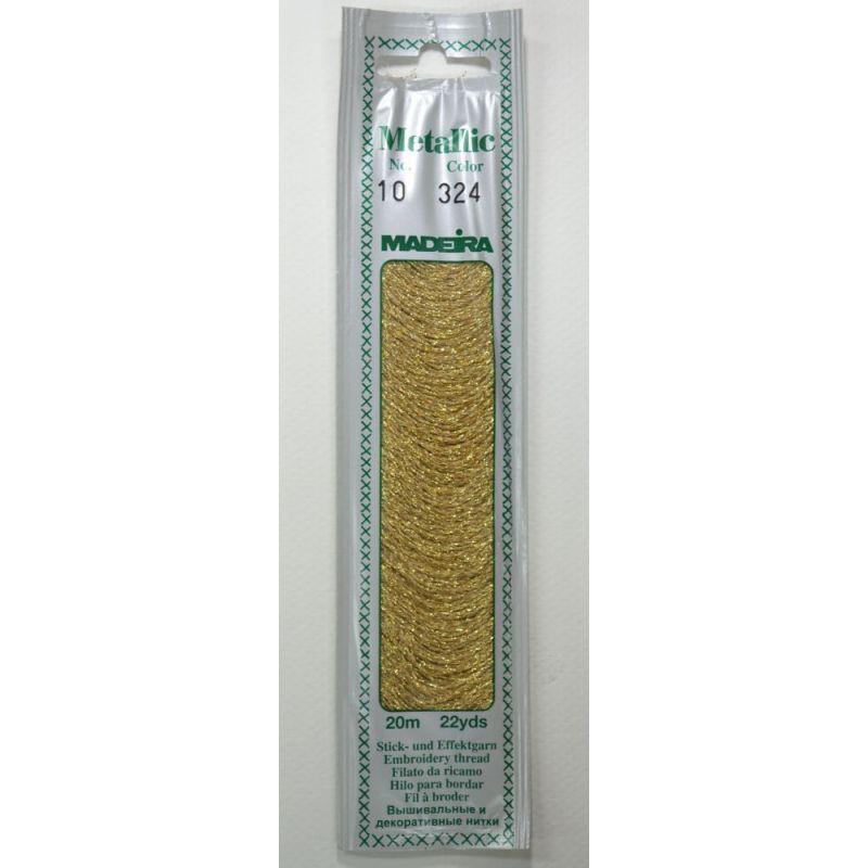 Butika.hu hobby webáruház - Madeira Metallic Perle fémszálas hímzőfonal - No.10, 20m, 324