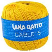 Butika.hu hobby webáruház - Lana Gatto - Cable5 kötő/horgoló fonal, egyiptomi pamut, 50g, 6568