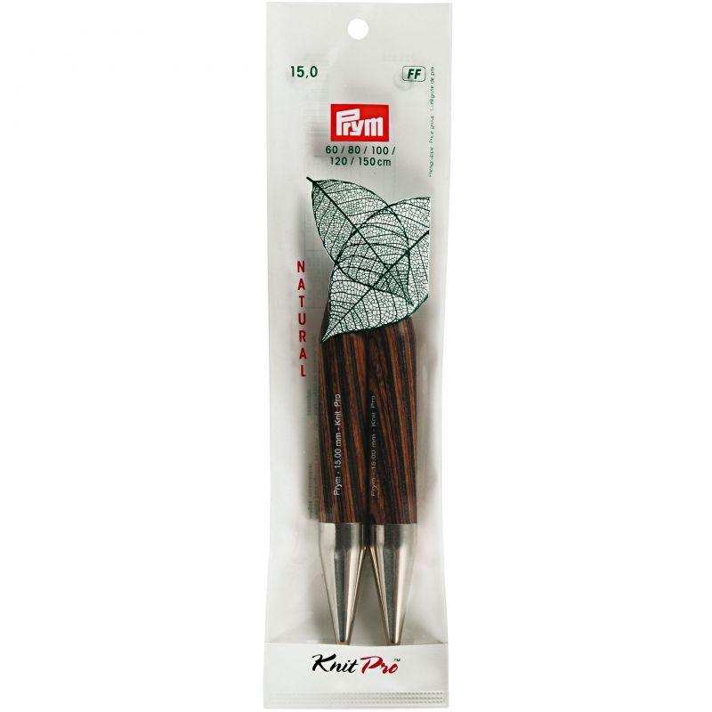 Butika.hu hobby webáruház - PRYM KnitPro Natural cserélhető kötőtűvég 15mm, 223335