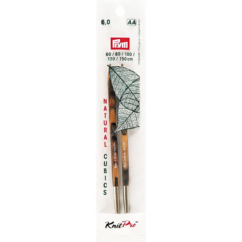 Butika.hu hobby webáruház - PRYM KnitPro Cubics cserélhető, négyszögletes kötőtűvég 6mm, 224328
