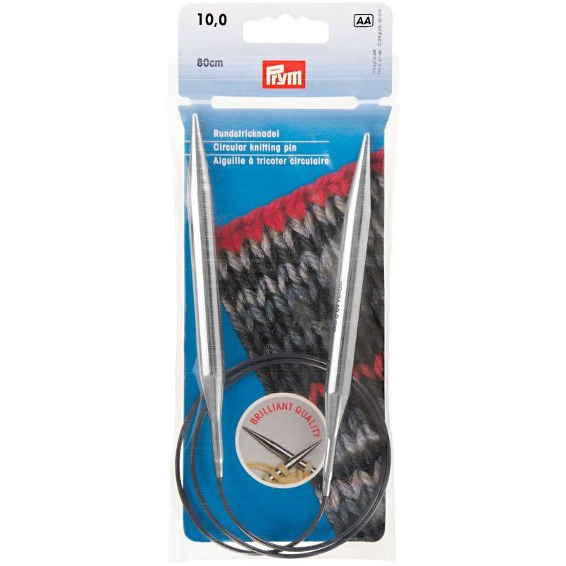 Butika.hu hobby webáruház - Prym Brilliant körkötőtű 10mm/80cm, 212234