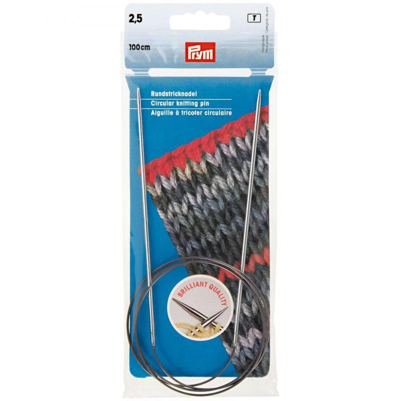 Butika.hu hobby webáruház - Prym Brilliant körkötőtű 2.5mm/100cm, 212116
