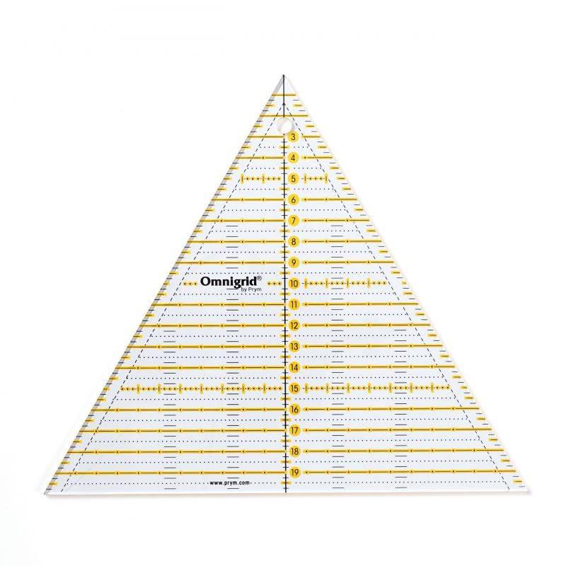 Butika.hu hobby webáruház - PRYM - Omnigrid háromszögű patchwork vonalzó, 20cm, 611656