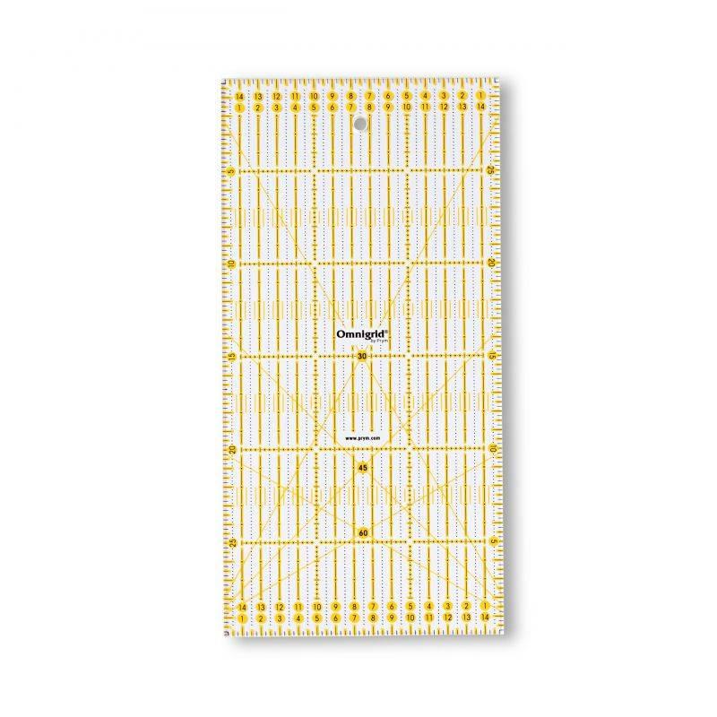 Butika.hu hobby webáruház - PRYM - Omnigrid patchwork vonalzó, 15x30cm, 611307