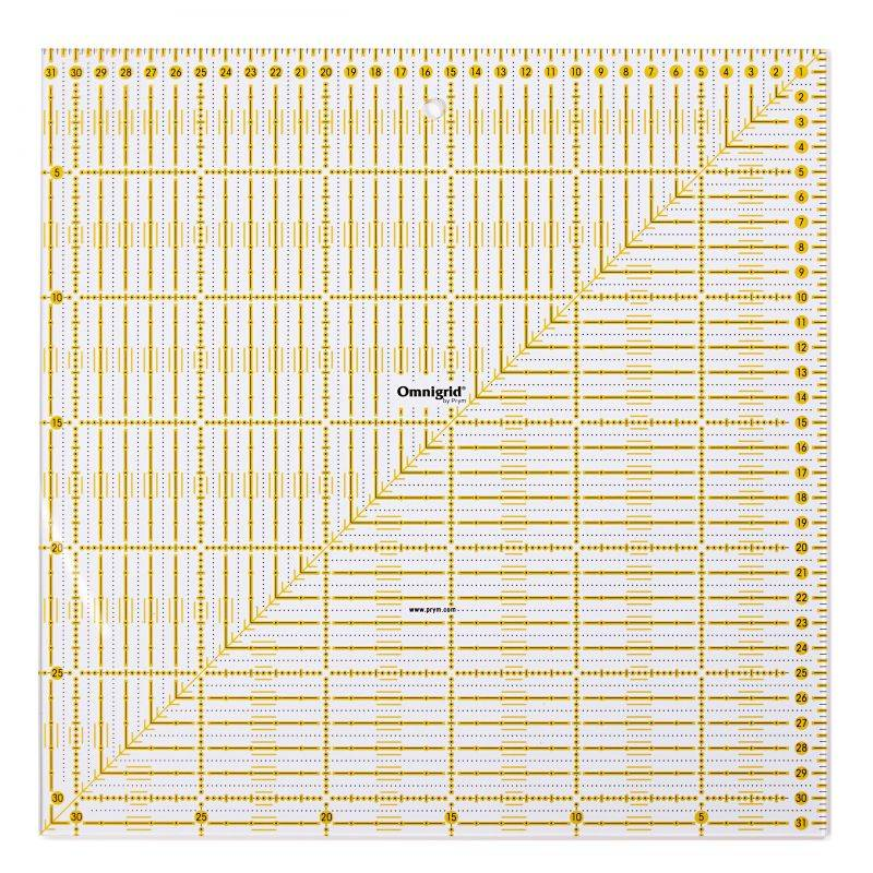 Butika.hu hobby webáruház - PRYM - Omnigrid patchwork vonalzó, 31.5x31.5cm, 611319