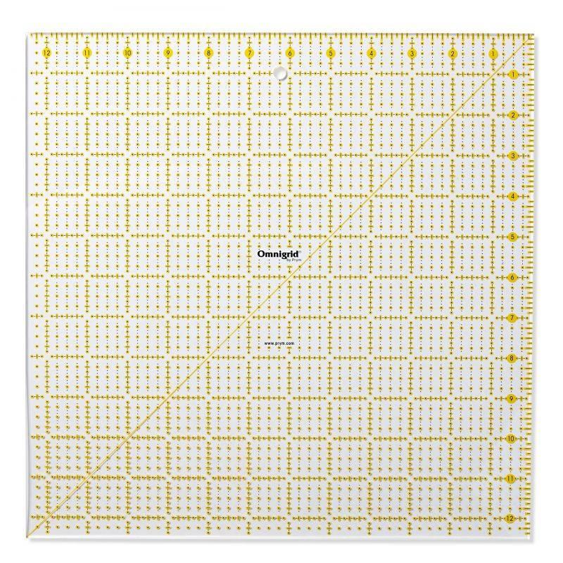 Butika.hu hobby webáruház - PRYM - Omnigrid patchwork vonalzó, 12.5x12.5 inch, 611647