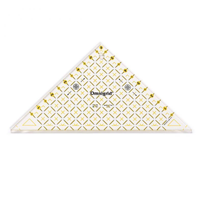 Butika.hu hobby webáruház - PRYM - Omnigrid patchwork háromszögű vonalzó, 6 inch, 611641