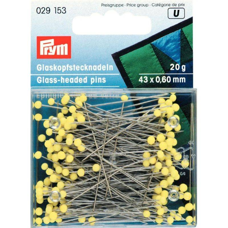 Butika.hu hobby webáruház - PRYM üvegfejű gombostű, 43mm, 20g, 029153
