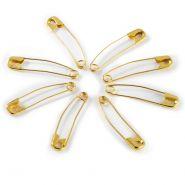 PRYM ívelt biztositótűk, arany vagy ezüst, 38mm, 150db, 071380