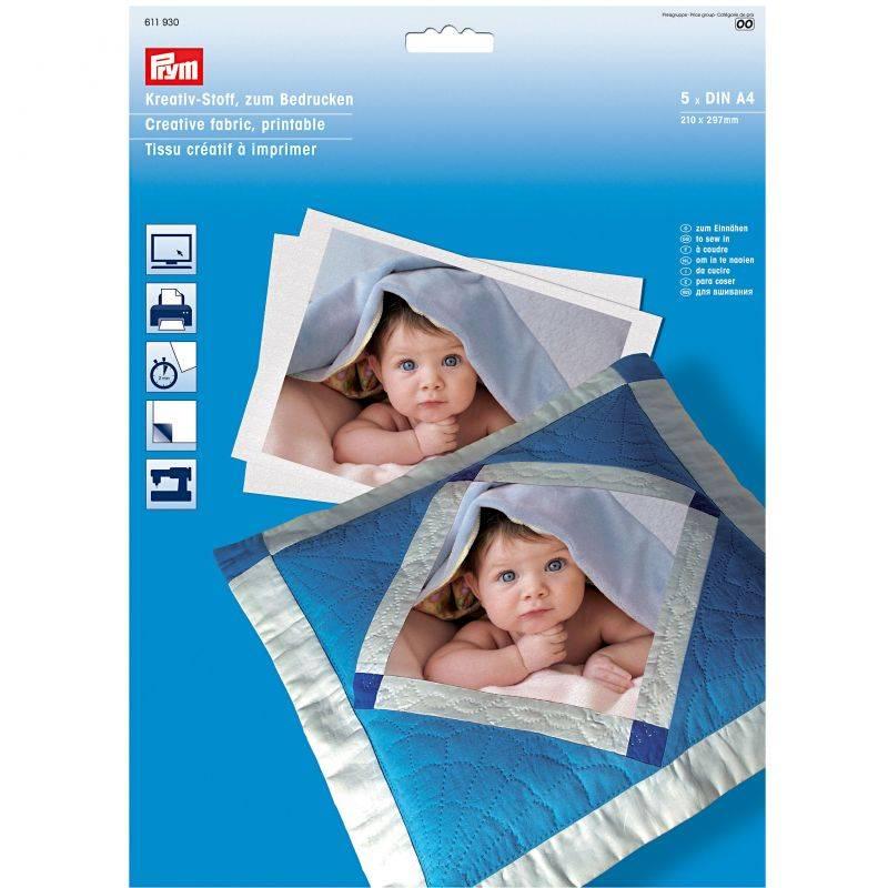 Butika.hu hobby webáruház - PRYM nyomtatható pamut textília, A4, 611930