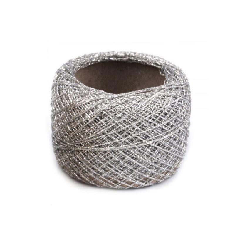 Butika.hu hobby webáruház - Metál hímzőfonal lurexel, ezüst, 520035