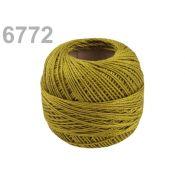 Butika.hu hobby webáruház - Hímzőcérna Cotton Perle Nitarna, uni - 290104, 6772, mustár