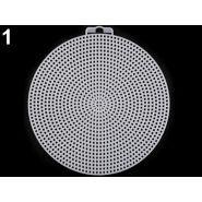 Műanyag kanavász / hímzőháló, kör, 14.8cm, 740489
