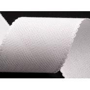 Butika.hu hobby webáruház - Hímezhető kongré szalag, 100mm, fogazott, fehér, 380420