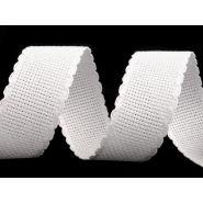Butika.hu hobby webáruház - Hímezhető kongré szalag, 30mm, cakkozott, fehér, 380520