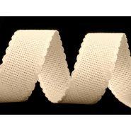 Butika.hu hobby webáruház - Hímezhető kongré szalag, 30mm, cakkozott, natur, 380520