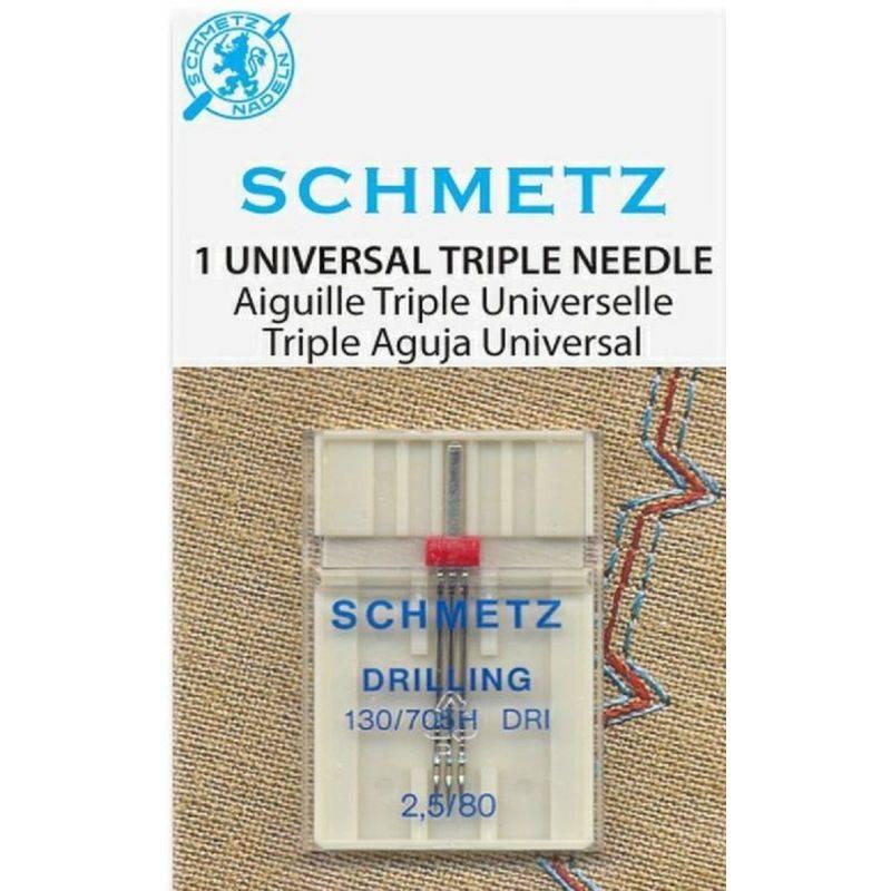 Butika.hu hobby webáruház - Schmetz univerzális tripla varrógéptű, 2,5mm/80, 130/705H DRI