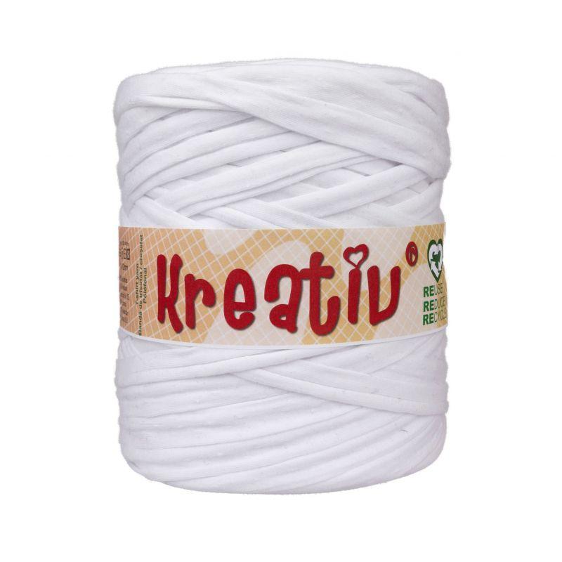 Butika.hu hobby webáruház - Kreatív pamut pólófonal, nagy gombolyag, fehér, Kreativ-300