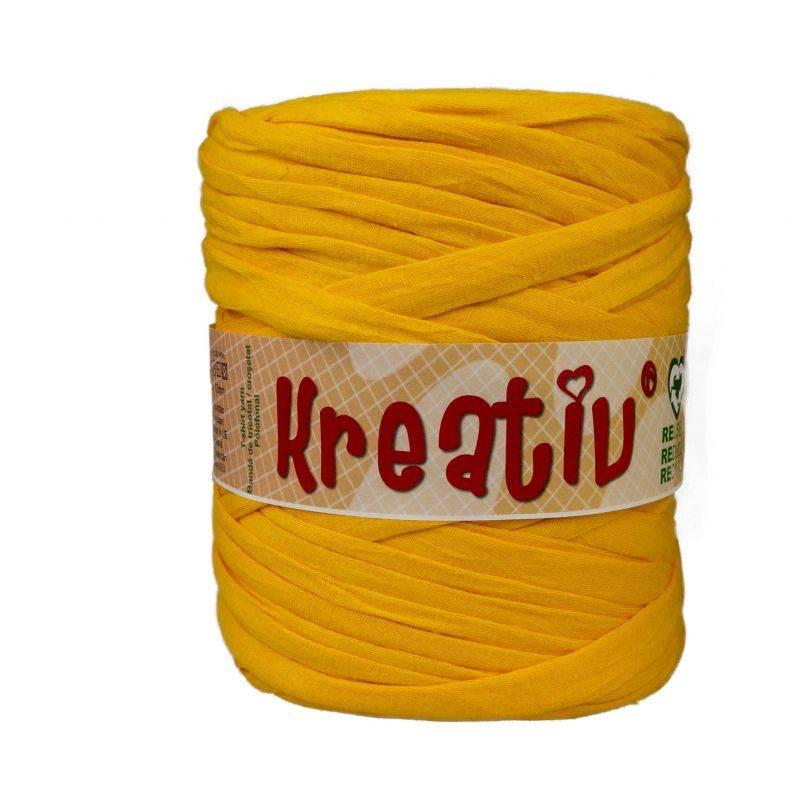 Butika.hu hobby webáruház - Kreatív pamut pólófonal, nagy gombolyag, narancssárga, Kreativ-402