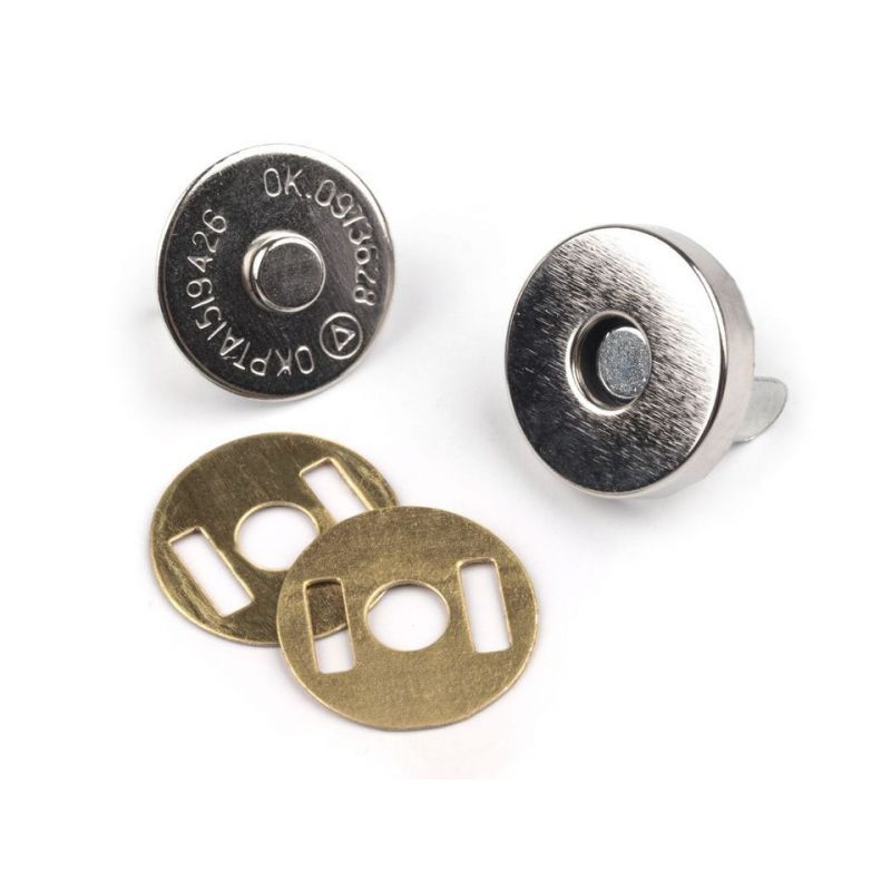 Butika.hu hobby webáruház - Táska mágneszár, 14mm, 5db, 060590 - nikkel