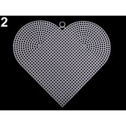 Butika.hu hobby webáruház - Műanyag kanavász / hímzőháló, szív, 15x17cm, 750980