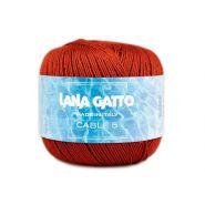 Butika.hu hobby webáruház - Lana Gatto - Cable5 kötő/horgoló fonal, egyiptomi pamut, 50g, 8656, Mattone