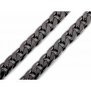 Butika.hu hobby webáruház - Fém táska lánc, lapos, 11mmx1m, 750887 - fekete