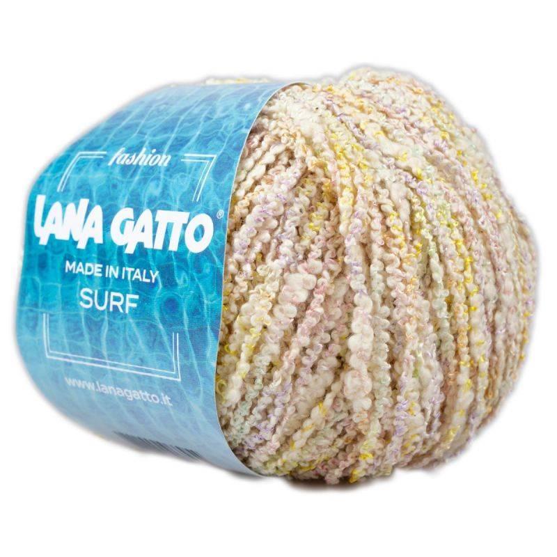 Butika.hu hobby webáruház - Lana Gatto SURF buklé kötő/horgoló fonal, 50g, pamut/poliészter, 8522, Giallo