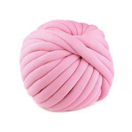 Butika.hu hobby webáruház - Jumbo, extrém vastag, csőfonal töltelékkel Bellezza Marshmallow, 5m - rózsaszín
