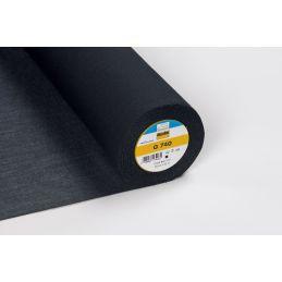 Butika.hu hobby webáruház - Vlieseline G740 szövött, bevasalható pamut közbélés, fekete, 90cm széles - ár/0,5m