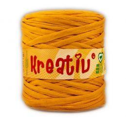 Butika.hu hobby webáruház - Kreatív pamut pólófonal, nagy gombolyag, aranysárga, Kreativ-603