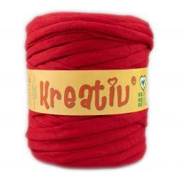 Butika.hu hobby webáruház - Kreatív pamut pólófonal, nagy gombolyag, intenzív piros, Kreativ-613