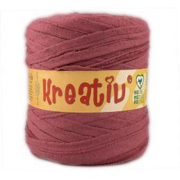 Butika.hu hobby webáruház - Kreatív pamut pólófonal, nagy gombolyag, marsala, Kreativ-615